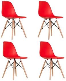 Conjunto 4 Cadeiras Eames Vermelha Dsw - Empório Tiffany