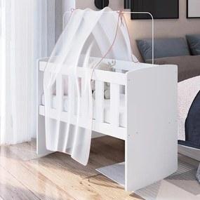 Berço Infantil Com Balanço Soneca Meu Fofinho - Branco
