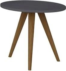 Mesa de Canto Lateral Pés Palito Retrô 1005 Espresso - BE Mobiliário