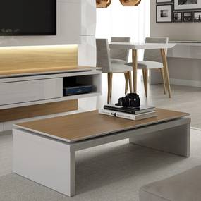 Mesa de Centro Lincoln – Off White/Natural – 1,20