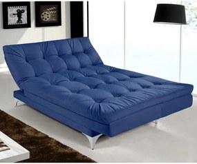 Sofá Cama Casal Versátil Azul