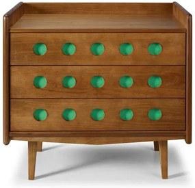 Comoda Vintage Cor Amendoa Com Verde Anis - 28929 Sun House