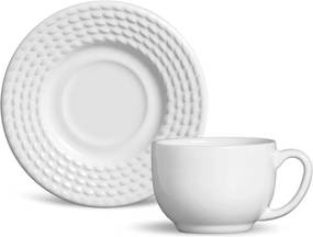 Conjunto 12Pçs Xicaras De Chá 160Ml Olimpia Branco