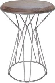 Mesa de Apoio Deker C/Base de Aço Carbono - Lâmina Nogueira
