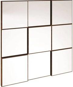 Quadro Espelho Block Pequeno 75cm (LARG) cor Nobre - 39933 Sun House
