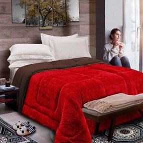 Cobertor Columbia Casa Dona Casal Vermelho
