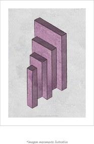 Poster Twisted Sides - Ilusão De Ótica Geométrica (60x80cm, Apenas Impressão)