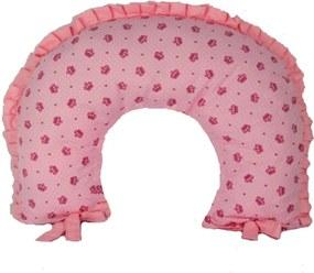 Almofada de Amamentação Alan Pierre Baby - Tricoline 100% algodão - Coroa Rosa