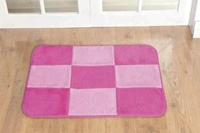 Tapete Guga Tapetes Retangular Patchwork Pink