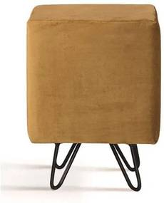 Puff Cube Caramelo Base Estrela Preta - 49870 Sun House