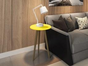 Mesa de Apoio Brilhante Amarelo