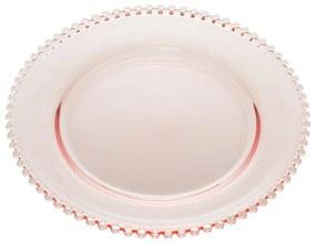 Prato Sobremesa Cristal Pearl Rosa 20cm 28431 Wolff