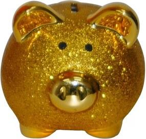 Cofre Real Arte Porco Glitter Dourado