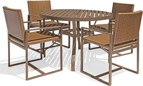 Conjunto 1 Mesa Redonda e 4 Cadeiras Domus - Área Externa