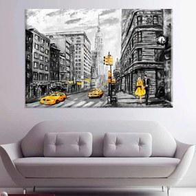 Tela Decorativa Abstrato N.W. Grande Love Decor