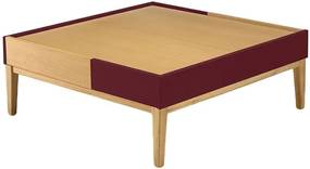 Mesa de Centro Duo Bordô - Wood Prime PTE 27084