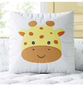Almofada Quadrada Amiguinha Girafa Bordada Grão de