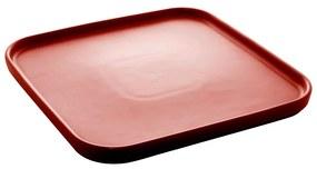 Jogo 2 Travessas Porcelana Nórdica Vermelho Matt 25x25x2cm 28683 Bon Gourmet