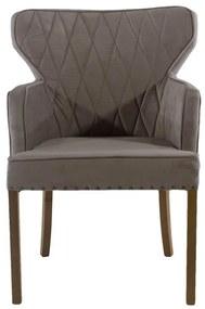Cadeira de Jantar Estofada Matelassê com Tachas - Wood Prime PP 31420