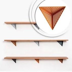 Prateleira de Madeira e Metal com Design Assimétrico | Mod: Assis| Cor: Prata