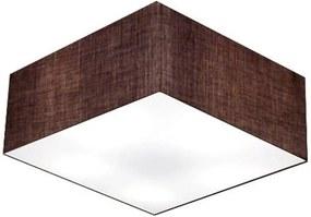 Plafon Quadrado Md-3012 Cúpula em Tecido 21/50x50cm Café - Bivolt