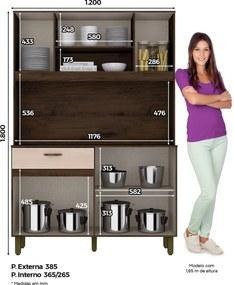 Cozinha Compacta BRIZ Marrom