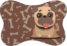 Tapete PET Mdecore Pug Marrom46x33cm