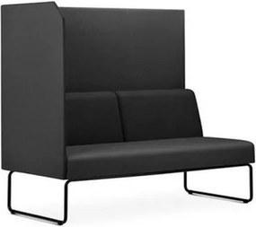 Sofa Privativo Pix com Lateral Direita Aberta Assento Courino Base Aco Preto - 54989 Sun House