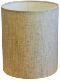 Cúpula Abajur Cilíndrica Cp-7001 Ø13x15cm - Rustico Bege