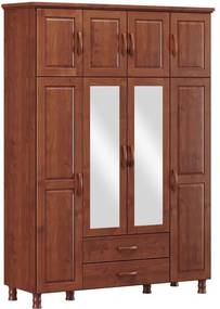 Roupeiro Bipartido 8 Portas Holbox Imbuia - NS 47081