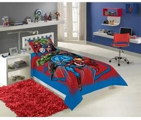 Jogo De Cama Infantil Lepper -Estampado Avengers Azul