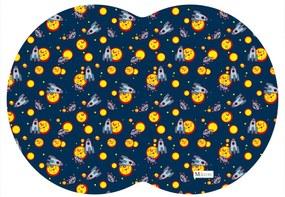 Tapete PET Mdecore Geométrico Foguete Azul Marinho 54x39cm