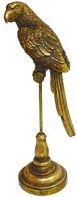 Escultura Decorativa Pássaro Dourado