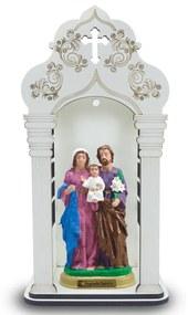Capela 34 cm Com Imagem Sagrada Familia Inquebravel