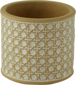 Vaso Concreto String Knot Branco 11X11X1