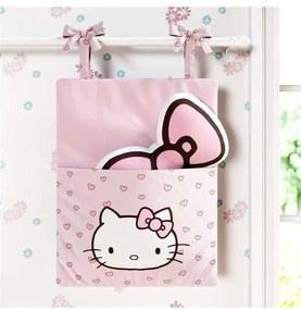 Porta Brinquedo Quarto Rosa Hello Kitty Grão de Ge