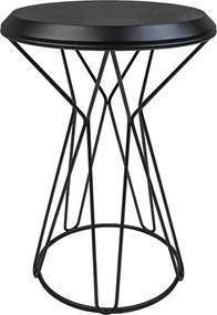 Mesa de Apoio Deker C/Base de Aço Carbono Preto - Lâmina Nogueira