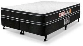 Cama Box  King Casal Castor Espuma Black & White D33 AIR Double Face 193X203x60