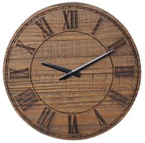Relógio Romano de Madeira Maciça -