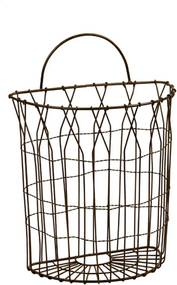 Cesta de Metal Decorativa Hamper Pequena