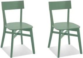 Kit 2 Cadeiras Bell em Madeira Taeda - Verde Jardim