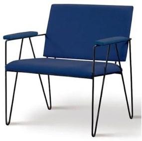 Poltrona Dori Azul Marinho Base Preta 72cm - 62087 Sun House