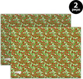 Jogo Americano Mdecore Natal Boneco de Neve 40x28 cm Verde 2pçs