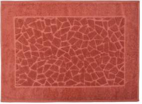 Toalha para Piso Felpudo Jacquard Confort Mosaico - Laranja Terra 11435 - Döhler