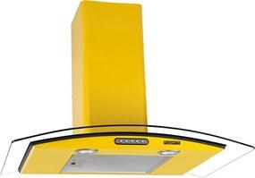 Coifa em Vidro Curvo Slim Amarelo de 75 cm - 220 Volts