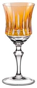 Taça de Cristal Lapidado Artesanal p/ Licor - Amarelo - 66