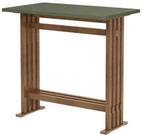 Mesa Bistrô Retangular Verde Musgo - Wood Prime MP 33218