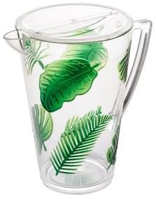 Jarra Acrílico Com Tampa Leaf Verde 2,9 Litros 28327 Bon Gourmet