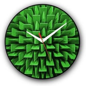Relógio de parede Colours Creative Photo Decor decorativo, criativo e diferente - Parede acústica verde
