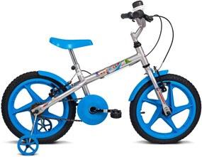 Bicicleta Rock Pta C/Ac Az - Aro 16
